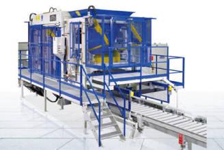 泉工德国策尼特844SC全自动水泥空心砖机设备(免托板)高清图 - 外观