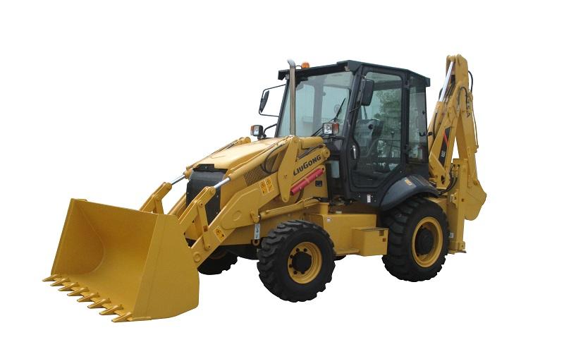 柳工CLG775A挖掘装载机高清图 - 外观