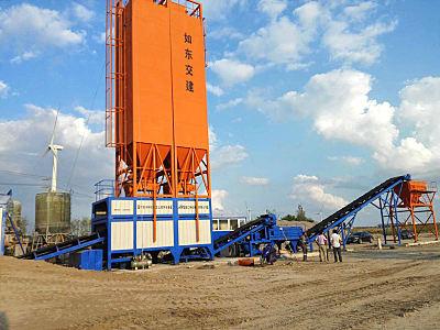 鎮江阿倫WBS800穩定土廠拌設備