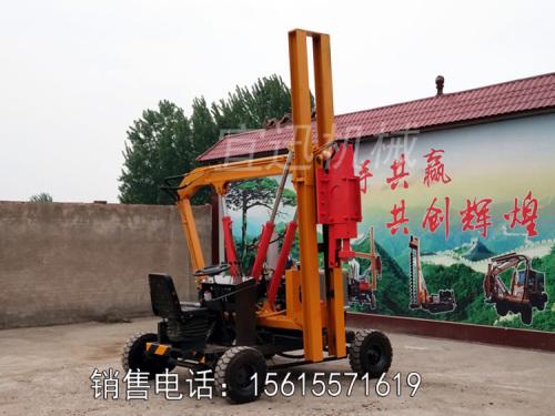 宜迅YX-GS高速公路护栏打桩机一体机