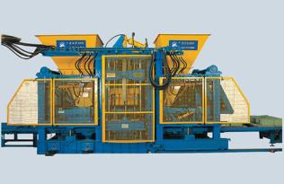 银马砖机爱尔莎2000牌全自动透水砖机|透水步道砖机