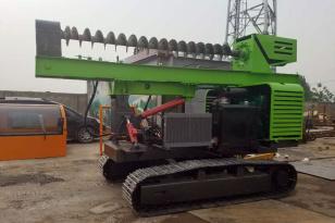 昌晟机械4105涡轮增压发动机光伏打桩机