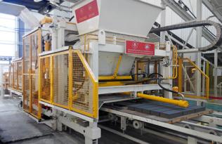 银马砖机超级美洲豹2001牌新型透水砖机