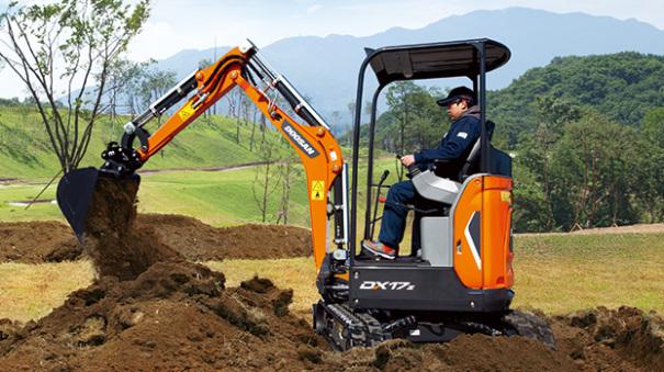 斗山DX17z迷你型挖掘機