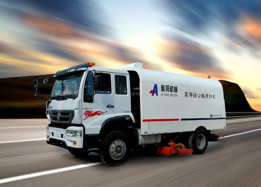 山东奥邦AQS高等级公路清扫车高清图 - 外观