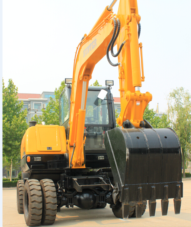 恒特HTL65-8轮式挖掘机高清图 - 外观