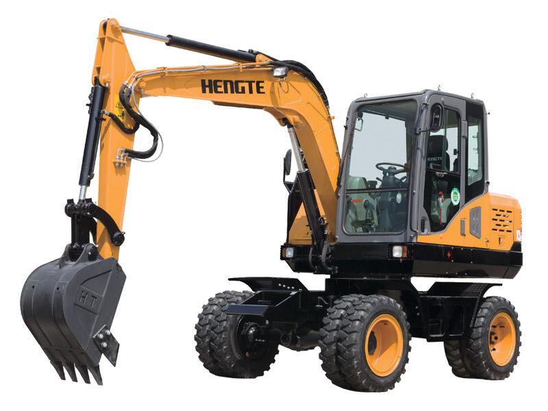 恒特HT75W轮式挖掘机高清图 - 外观