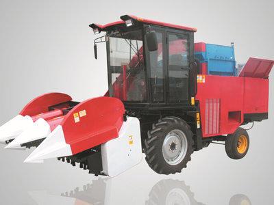 农哈哈4YZ-3B型玉米收获机高清图 - 外观