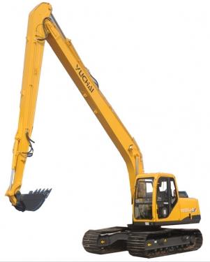 玉柴YC135LR-8加长臂液压挖掘机