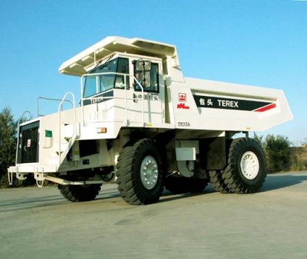 内蒙古北方股份TR35A岩斗型矿用自卸车