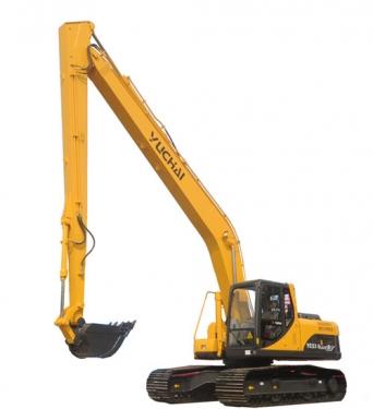 玉柴YC230LCLR-8加长臂液压挖掘机