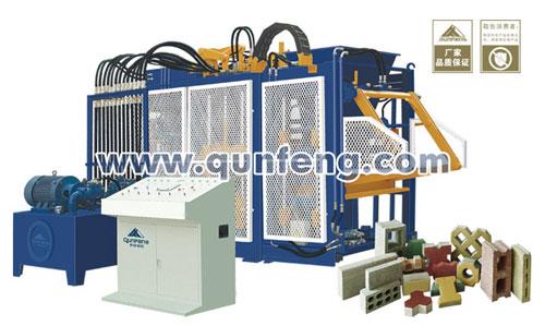 群峰智能QFT10-15砌块成型机砖机