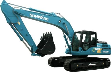 山河智能SWE230S混合动力挖掘机