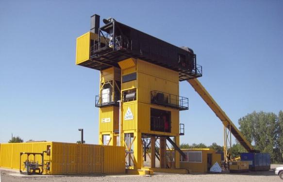 林泰阁CSD2500B型集装箱式沥青混凝土搅拌站
