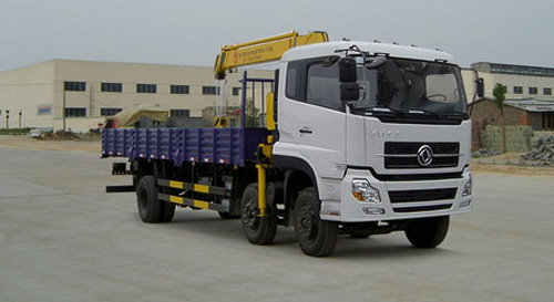 程力东风天龙小三轴随车起重运输车-DFL1203A