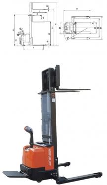诺力CS1232UI/UII(-FFL)全电动堆高车