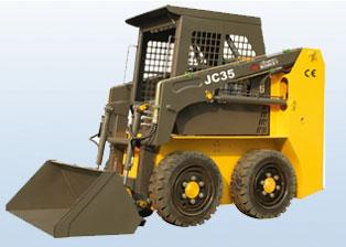 鲁岳JC35轮式滑移装载机