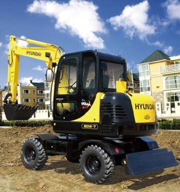 现代R60w-7轮式挖掘机