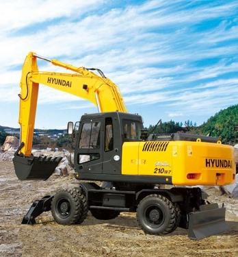 现代R210W-7轮式挖掘机