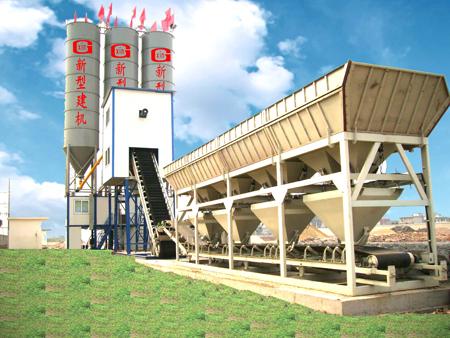 陕西科尼乐YHZS80/YHZS100拖挂式移动搅拌站