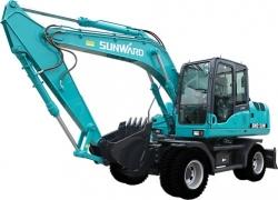 山河智能SWE130W轮式小型挖掘机