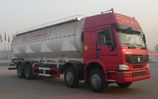 亚特重工TZ5317GFLZC6高顶散灰40立方粉粒物料运输车