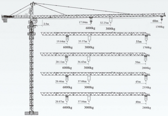 徐工QTZ100(6013Fz-6)塔顶式塔机