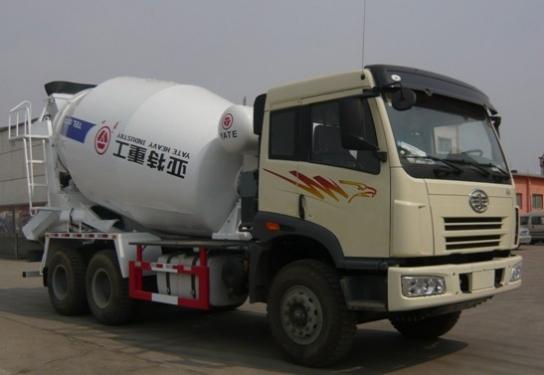 亚特重工TZ5252GJBCA9解放10立方混凝土搅拌车