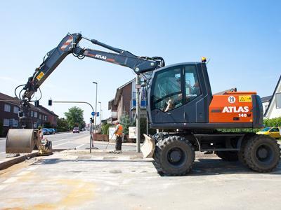 阿特拉斯160W轮式液压挖掘机(进口机)