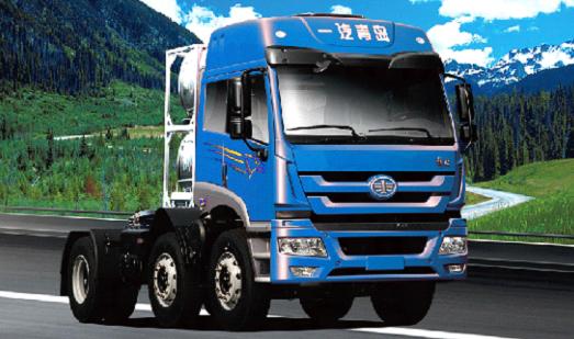 青岛解放J5M 6x2翼开启厢式车(铝合金)