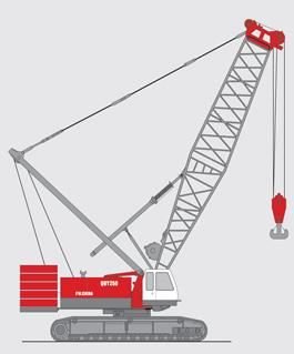 抚挖QUY250 液压履带式起重机