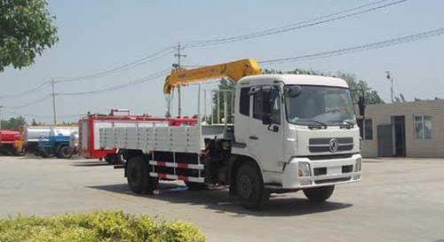 程力东风天锦随车起重运输车-12495kg