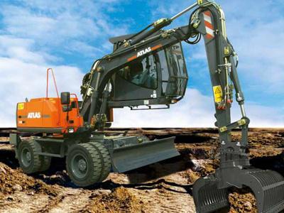 阿特拉斯200MH抓料挖掘机(进口机)