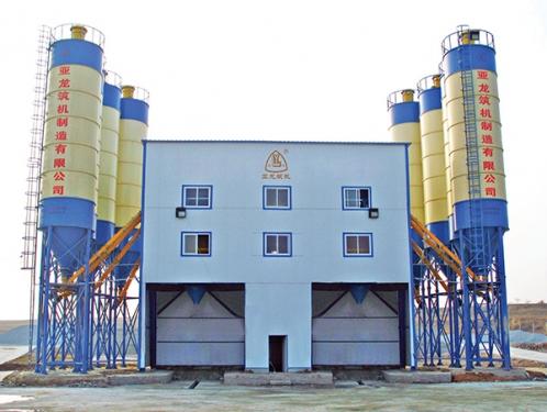 亚龙筑机HZS160水泥混凝土搅拌设备