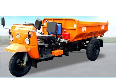 时风把式矿用加重自卸三轮运输车