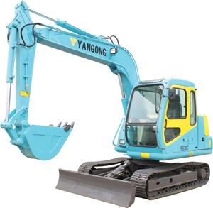 烟工YG70C多功能液压挖掘机
