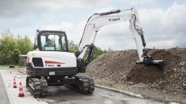 斗山E85小型挖掘机