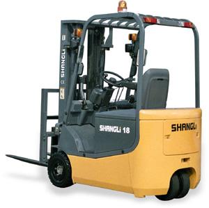 上力重工1~1.5吨3支点蓄电池平衡重式叉车