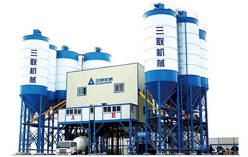 三联机械HZ(L)S商品混凝土搅拌站