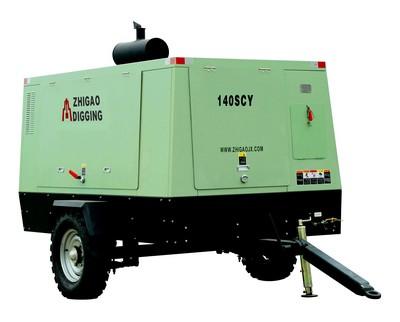 志高140SCY柴油驱动移动螺杆式空压机