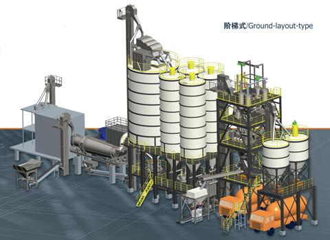 铁拓机械GHX(J)阶梯式干混砂浆搅拌设备