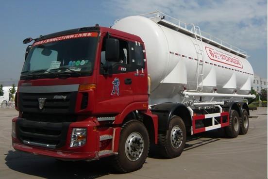 亚特重工TZ5313GFLB7S欧曼散灰40立方粉粒物料运输车