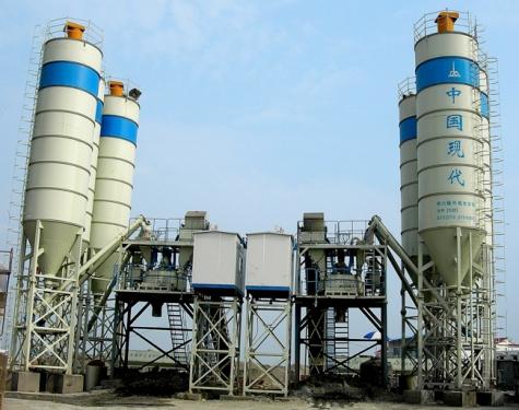 中国现代HZS(N)120E现场快装型混凝土搅拌站