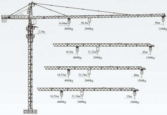 徐工QTZ63(5011L-4)塔顶式塔机