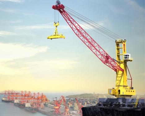 三一重工SGQ105S港口移动式高架起重机