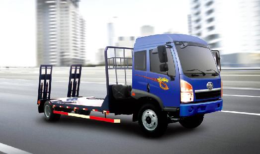 青岛解放赛龙 4×2特种低平板运输车