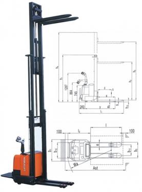 诺力CS1543/46/50全电动堆高车