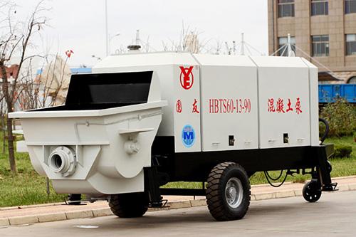 圆友重工HBTS60混凝土柴油机输送泵
