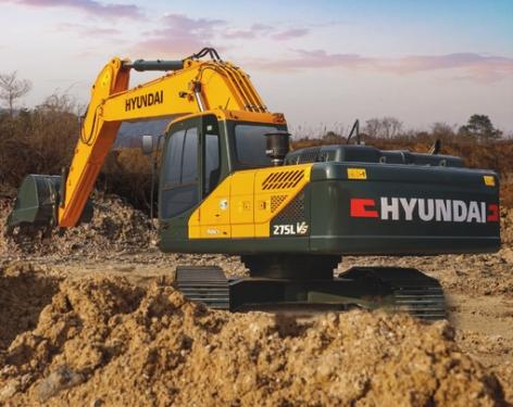 现代R275L VS挖掘机