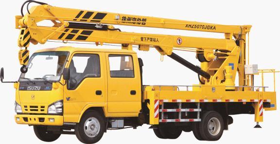 海伦哲XHZ5070JGKA庆铃18米折叠臂高空作业车
